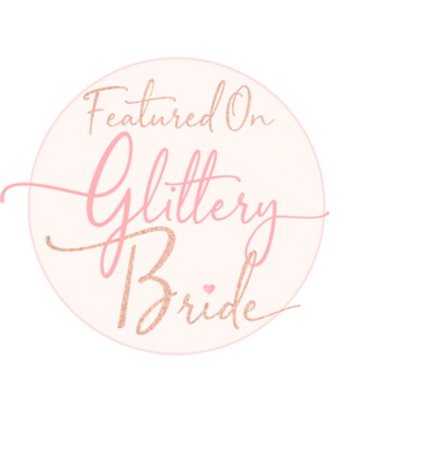 glittery bride badge