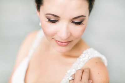 portrait of makeup and hair bride