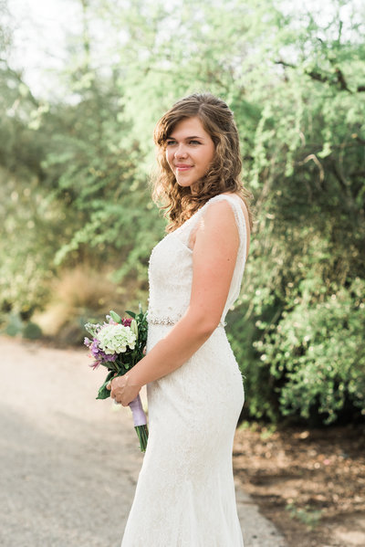 Case Park Bride and Bouquet Photo