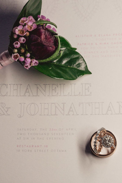 invitation suite, charlotte northrope photography, lafabere weddings, ottawa wedding planner