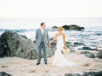 Fine Art Wedding Photos on beach in Cabo Mexico, Destination Wedding