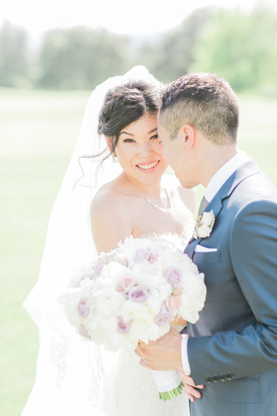 Outdoor Wedding Bridal Portrait by Evonne & Darren Photography - Fine Art Film Wedding Photographers