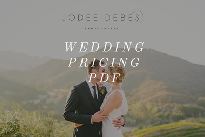 Wedding Pricing PDF