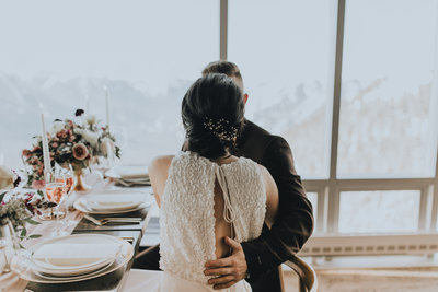 Wedding Reception at Sky Bistro Banff Gondola by Moments By Madeleine