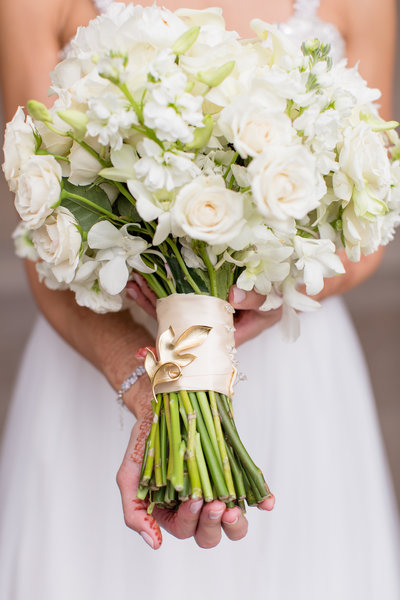 Boquet for bride photographed by Dana Tate Weddings
