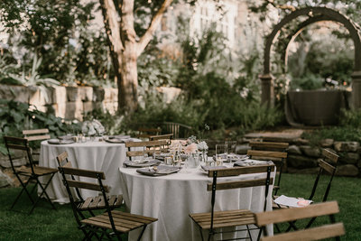 Boise Wedding Reception Inspirations Bistro Chairs Neutral