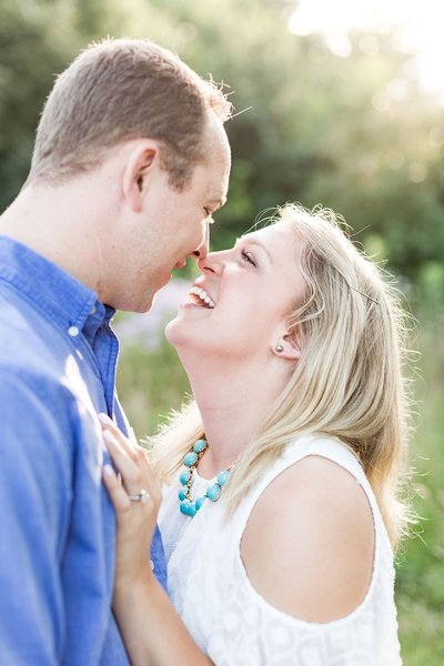 Chicago Engagement Photographer during Summer at Montrose Bird Sanctuary during Golden Hour