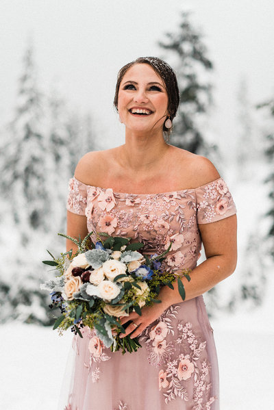 Adventure Wedding Planner PNW Snow Elopement