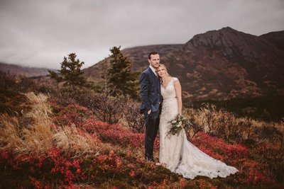 Alaskan Mountain Wedding Photos