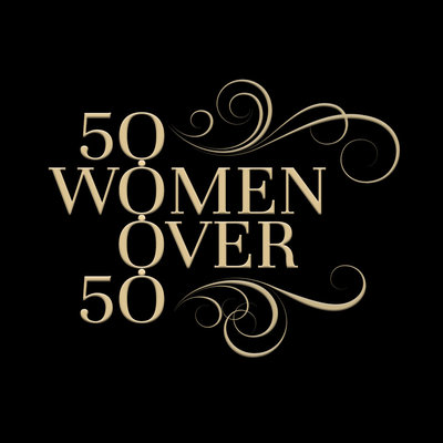 50 women over 50 logo