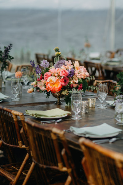 Seattle Wedding Planner Designer  Table Decor Colorful Flowers