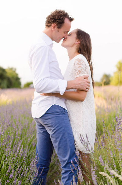Engagement Shoot - Lavender Field - Provence