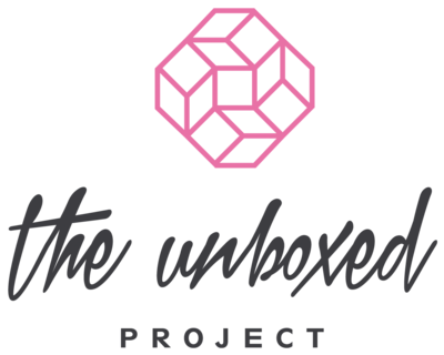 Unboxed Logo charcoal_pink