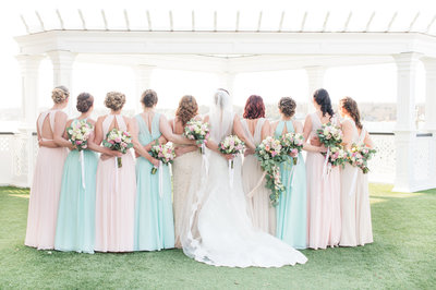 Spring wedding with multicolored dresses-64