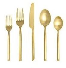 gold flatware - use