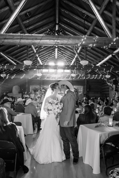 Wedding reception barn photo