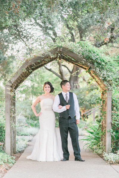 Outdoor Garden Wedding Venue, Los Altos History Museum - Bridal Portrait by Evonne & Darren Photography