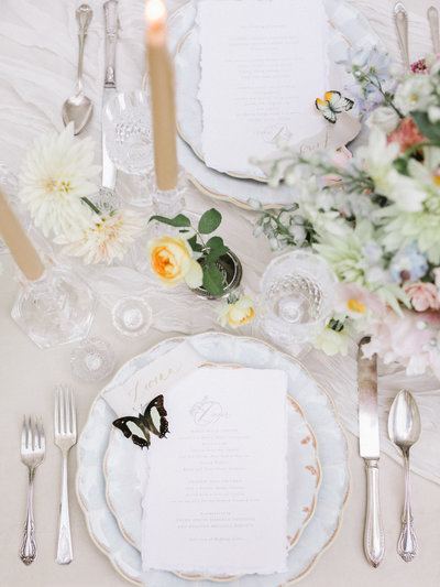 Place Setting at Swan Coach House Wedding in Atlanta, Georgia