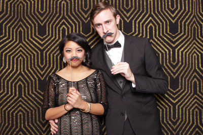 Themed party 1920s Gatsby photo booth for a Gala event