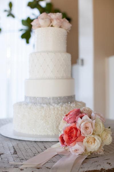 Beautiful wedding cake at Marbella Country Club wedding cake in Orange County, CA San Juan Capistrano wedding photographer