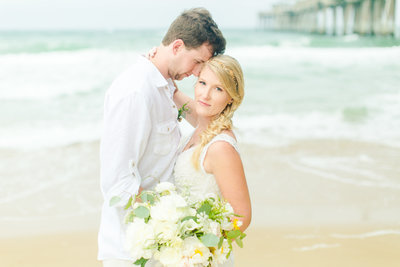James Sullivan & Gabrielle Gardner Married Wedding at Jenette's Pier in Nags Head North Carolina Beach Wedding-117