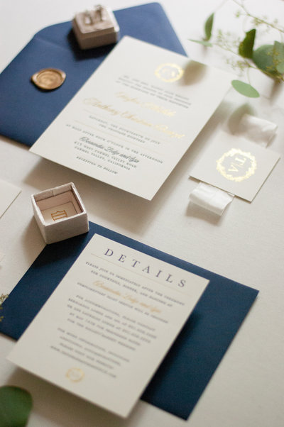 Foil stamping is similar to letterpress printing, but uses metallic foil instead of ink to achieve a metallic finish.