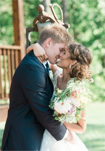 CB Photography package 1 | Brunette bride kissing groom