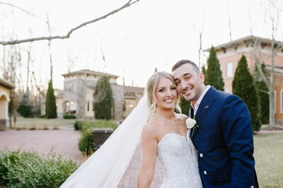 intimate wedding during sunset at gervasi vineyard