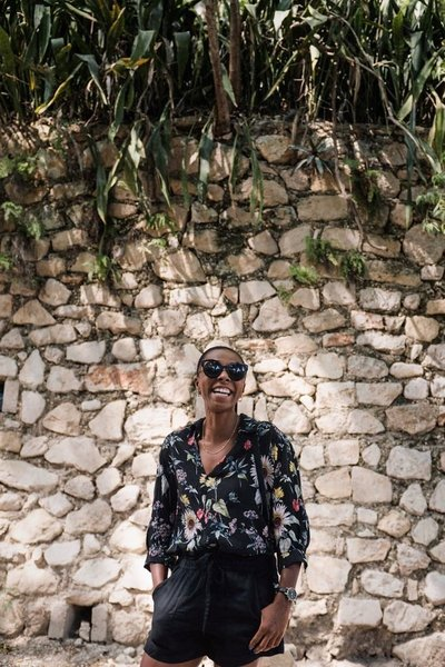 Lyndah in haiti