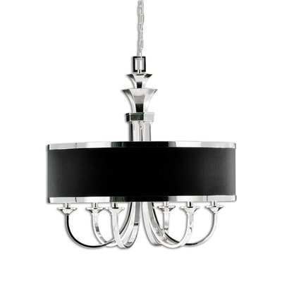 Black and silver chandelier from Hockman Interiors