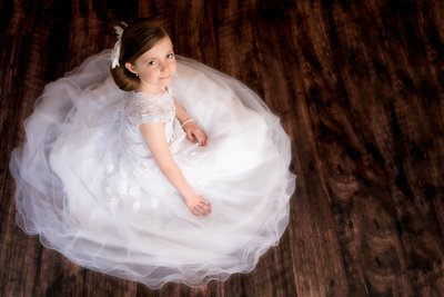 Girl in communion dress