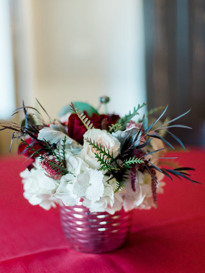 burgundy centerpiece
