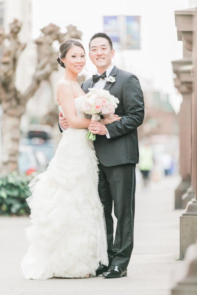Bridal Portrait in San Francisco photographed by Fine Art Film Wedding Photographers - Evonne & Darren Photography