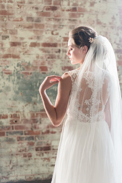 bridal portrait, kim ing photography, veil, ottawa wedding planner