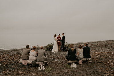 Seattle Wedding Planner Moody PNW Beach Elopement