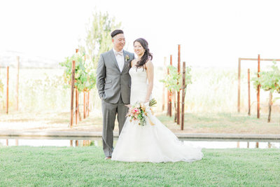 Vineyard wedding bridal portrait at Cornerstone Sonoma, photographed by Fine Art Wedding Photographers - Evonne and Darren Photography