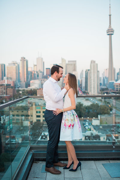 Engagement photo shoot downtown Toronto