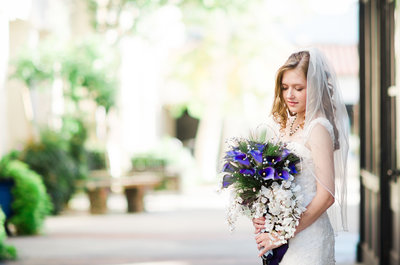 Classic wedding photo of Bride and bouquet | Tucson Wedding Photographer | West End Photography