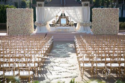 Summer wedding ceremony at Marbella Country Club in Orange County, CA San Juan Capistrano wedding photographer