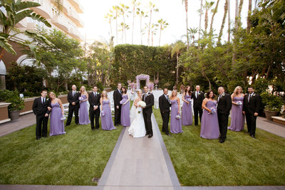 bridal party at the Four Seasons Beverly Hills wedding photo by Gilmore Studios wedding photographers