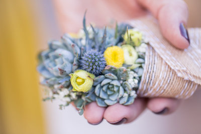 BOUTONNIERE Dreamy Yellow Bohemian Desert Wedding  |  Round Lens PhotographyMarch70