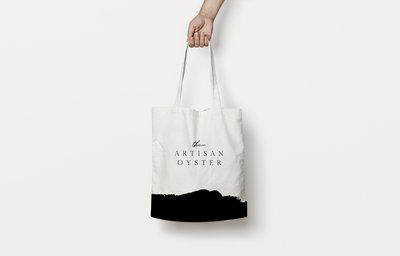 Tote bag design for The Artisan Oyster, a paint and sip studio.