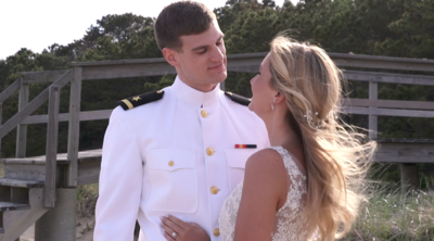 Beautiful military couple married at the Popponesset Inn on Cape Cod. Filmed by Harborview Studios.