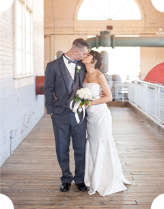 Columbia riverwalk wedding photo