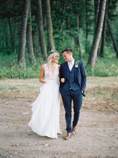 Bride & Groom at Woodlands at Cottonwood Canyon by MT wedding photographers Orange Photographers