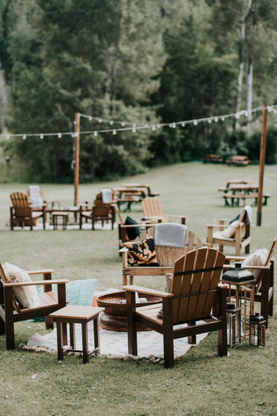 PNW Wedding Elopement Planner Reception Lounge Seating Inspiration
