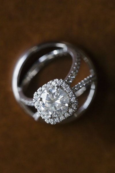 Wedding Ring at the Bridgewater Club In Indianapolis
