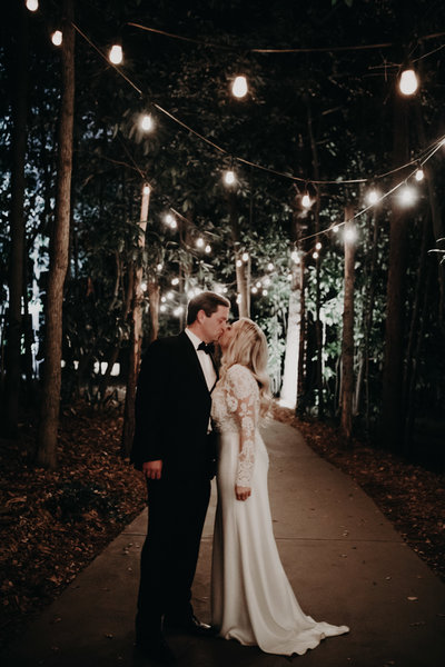night time outdoor wedding