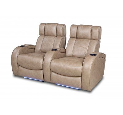 RO8071 Andromeda 2-Seat Group Silhoutte in 128G Taupe PU Fabric Dark Lo-...