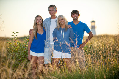 Family Portraits on the beach in St. Joseph, MIchigan